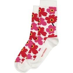 Women's Marimekko Unikko Floral Socks, Size 34-36 - Red found on MODAPINS from Nordstrom for USD $30.00