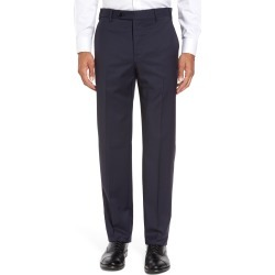 Men's Zanella Devon Flat Front Classic Fit Solid Wool Serge Dress Pants, Size 36Unhemmed - Blue found on MODAPINS from Nordstrom for USD $325.00