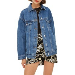 Women's Topshop Oversized Denim Jacket, Size 8 US (fits like 6-8) - Blue found on Bargain Bro India from Nordstrom for $95.00