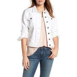 Women's Kut From The Kloth 'Helena' Denim Jacket, Size Large - White found on Bargain Bro Philippines from LinkShare USA for $79.00