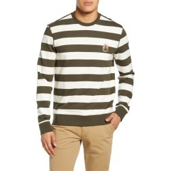 Men's Club Monaco Slim Fit Wide Stripe Sweatshirt, Size X-Large - Ivory found on Bargain Bro Philippines from LinkShare USA for $27.53