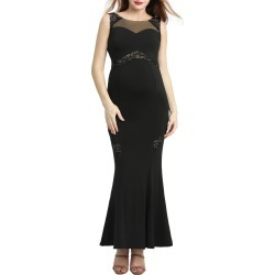 Women's Kimi And Kai Corinne Lace Trim Maternity Mermaid Gown found on Bargain Bro India from Nordstrom for $98.00