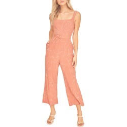 Women's Astr The Label Chasse Wide Leg Jumpsuit, Size Small - Coral