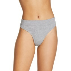 Women's Honeydew Intimates Bailey Thong, Size Medium - Grey found on MODAPINS from Nordstrom for USD $13.00