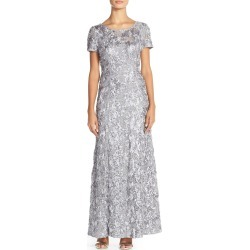 Women's Alex Evenings Embellished Lace A-Line Gown, Size 14 - Ivory found on MODAPINS from Nordstrom for USD $249.00