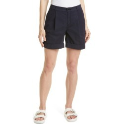 Women's Boss C Taggie Pleated Cuffed Chino Shorts, Size 8 - Blue found on MODAPINS from Nordstrom for USD $138.00