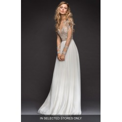 Women's Hayley Paige Pascal Embellished Net & Chiffon A-Line Gown, Size - Ivory found on Bargain Bro Philippines from Nordstrom for $4070.00