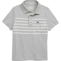 Toddler Boy's Vineyard Vines Edgartown Placed Stripe Polo, Size 3T - Grey found on Bargain Bro Philippines from Nordstrom for $31.50