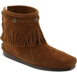 Women's Minnetonka Fringed Moccasin Bootie, Size 7.5 M - Brown found on Bargain Bro from Nordstrom for USD $51.64