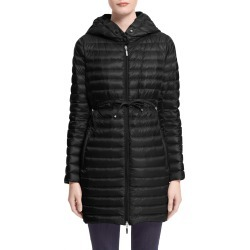 Women's Moncler Barbel Tie Waist Hooded Down Coat, Size 5 - Black found on Bargain Bro India from Nordstrom for $1210.00