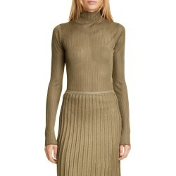 Women's Vince Metallic Ribbed Mock Neck Sweater found on Bargain Bro India from Nordstrom for $130.00