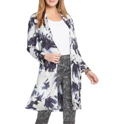 Women's Nic+Zoe Inky Flowers Satin Crepe Long Jacket found on Bargain Bro India from LinkShare USA for $74.98