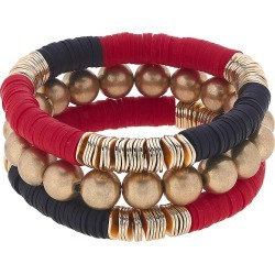 Women's Canvas Jewelry Emberly Set Of 3 Beaded Stacking Bracelets found on Bargain Bro Philippines from Nordstrom for $48.00