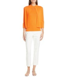 Women's St. John Collection Mock Neck Pointelle Sleeveless Sweater found on MODAPINS from Nordstrom for USD $695.00