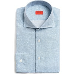 Men's Isaia Camicie Slim Fit Button-Up Shirt, Size 38 EU - Blue found on MODAPINS from LinkShare USA for USD $417.00