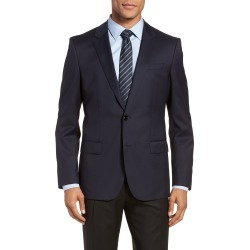 Men's Boss Hayes Cyl Slim Fit Solid Wool Sport Coat, Size 42 Short - Blue found on MODAPINS from Nordstrom for USD $645.00