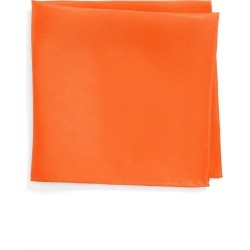 Men's Nordstrom Men's Shop King Twill Silk Pocket Square, Size One Size - Orange found on Bargain Bro India from Nordstrom for $25.00