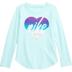 Toddler Girl's Nike Metallic Heart Graphic Tee, Size 2T - Green found on Bargain Bro Philippines from Nordstrom for $20.00