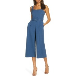 Women's Adelyn Rae Kayle Culotte Jumpsuit, Size X-Large - Blue found on Bargain Bro India from Nordstrom for $130.00