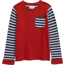 Toddler Boy's Tucker + Tate Kids' Stripe Pocket T-Shirt, Size 2T - Red found on Bargain Bro Philippines from Nordstrom for $15.00