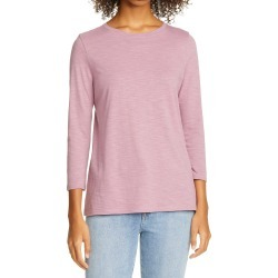 Women's Nordstrom Signature Scoop Neck Cotton Tee, Size Small - Purple found on Bargain Bro India from Nordstrom for $29.97