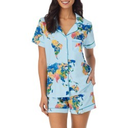 Women's Bedhead Pajamas Classic Shorty Pajamas, Size Medium - Blue found on MODAPINS from Nordstrom for USD $114.00
