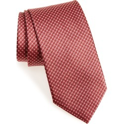 Men's Brioni Geometric Silk Tie, Size One Size - Red found on MODAPINS from Nordstrom for USD $150.00