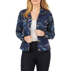 Women's Foxcroft Embroidered Jacket, Size 18 - Blue found on Bargain Bro from Nordstrom for USD $82.08