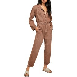Women's Free People Madrid Denim Coveralls, Size X-Small - Brown found on Bargain Bro Philippines from Nordstrom for $88.80