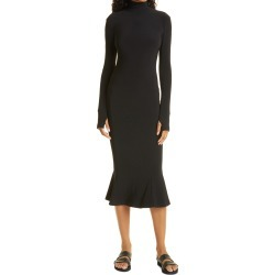 Women's Norma Kamali Long Sleeve Turtleneck Jersey Fishtail Dress, Size XX-Small - Black found on Bargain Bro Philippines from Nordstrom for $235.00