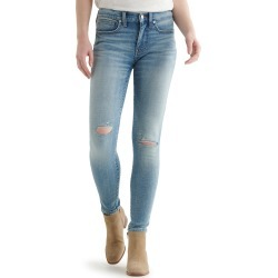 Women's Lucky Brand Ava Ripped Skinny Jeans, Size 33 x 29 - Blue found on Bargain Bro India from Nordstrom for $129.00