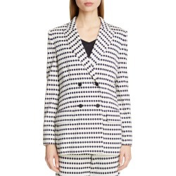 Women's Max Mara Ponza Dot Stripe Knit Jacket, Size 4 - Ivory found on Bargain Bro Philippines from Nordstrom for $953.98