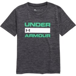 Toddler Boy's Under Armour Branded Logo Shirt, Size 4T - Black found on Bargain Bro India from LinkShare USA for $22.00