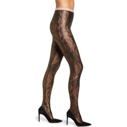 Women's Gucci Floral Metallic Tights, Size Small - Black found on MODAPINS from Nordstrom for USD $290.00