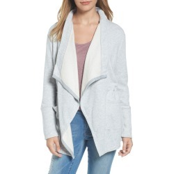 Women's Caslon Asymmetrical Drape Collar Terry Jacket, Size Medium - Grey found on Bargain Bro India from Nordstrom for $69.00