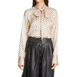 Women's Birgitte Herskind Frida Polka Dot Tie Neck Blouse, Size 10 US - Ivory found on Bargain Bro Philippines from Nordstrom for $258.00