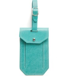 Moore & Giles Leather Luggage Tag - Blue found on Bargain Bro India from Nordstrom for $40.00