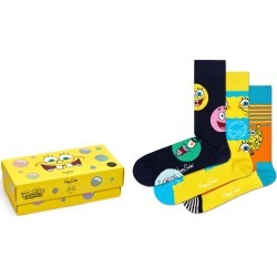 Men's Happy Socks X Spongebob 3-Pack Socks, Size One Size - Grey found on MODAPINS from LinkShare USA for USD $48.00