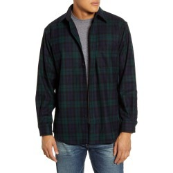 Men's Pendleton Lodge Plaid Button-Up Wool Flannel Shirt, Size Small - Black found on Bargain Bro India from Nordstrom for $139.00