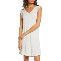 Women's Nordstrom Moonlight Lace Trim Nightgown, Size X-Large - Grey found on MODAPINS from Nordstrom for USD $29.40