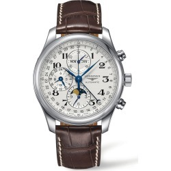 Longines Master Automatic Chronograph Leather Strap Watch, 42mm found on MODAPINS from Nordstrom for USD $3550.00