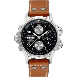 Men's Hamilton Khaki Aviation X-Wind Automatic Chronograph Leather Strap Watch, 44mm found on Bargain Bro Philippines from Nordstrom for $1595.00