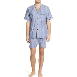 Men's Majestic International Bedford Cotton Short Pajamas, Size Small - Blue found on MODAPINS from Nordstrom for USD $65.00