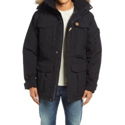 Men's Fjallraven Yupik Parka With Faux Fur Trim, Size XX-Large - Black found on MODAPINS from Nordstrom for USD $250.00