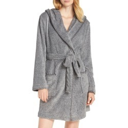 Women's Make + Model Starry Night Plush Short Robe, Size Large - Grey found on MODAPINS from Nordstrom for USD $59.00