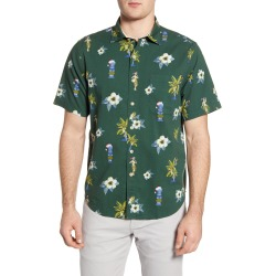 Men's Tommy Bahama Juniper Classic Fit Holiday Short Sleeve Button-Up Seersucker Shirt, Size Small - Green found on Bargain Bro India from Nordstrom for $76.98