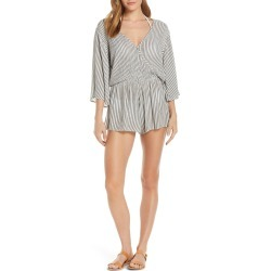 Women's Elan Stripe Cover-Up Romper, Size Large - Grey (Nordstrom Exclusive) found on Bargain Bro Philippines from LinkShare USA for $64.00