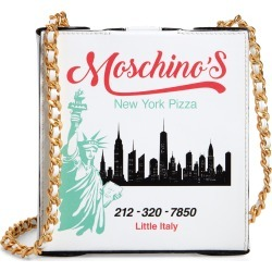 Moschino Nyc Skyline Pizza Box Leather Shoulder Bag - White found on Bargain Bro Philippines from Nordstrom for $995.00