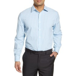 Men's Nordstrom Men's Shop Tech-Smart Traditional Fit Check Dress Shirt, Size 15.5 - 34/35 - Blue found on Bargain Bro Philippines from Nordstrom for $34.75