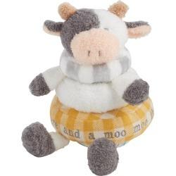 Mud Pie Farm House Stackable Plush Cow
